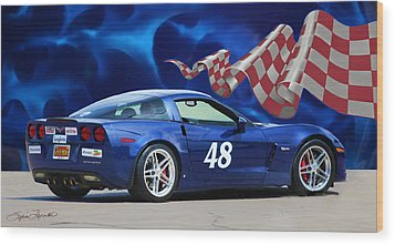 2007 Z06 Corvette Wood Print by Sylvia Thornton