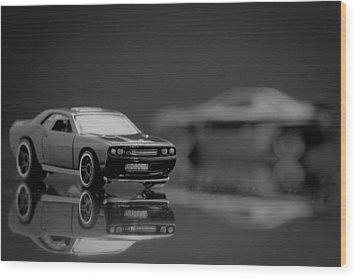 2008 Dodge Challenger Srt8 Wood Print by Wade Brooks