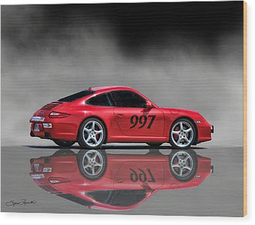 2009 Porsche Carrera Wood Print