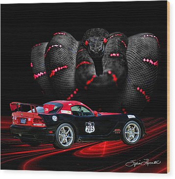 2010 Dodge Viper Wood Print by Sylvia Thornton