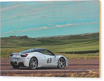 2010 Ferrari Wood Print by Sylvia Thornton