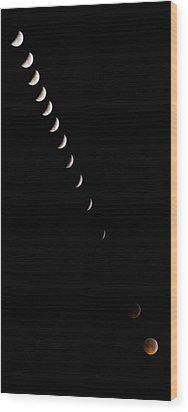2010 Lunar Eclipse Wood Print by Benjamin Reed