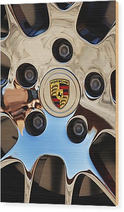 2010 Porsche Panamera Turbo Wheel Wood Print by Jill Reger