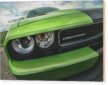 2011 Dodge Challenger Srt8 Green With Envy Wood Print by Gordon Dean II