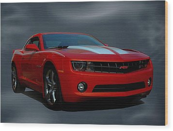 2012 Camaro Rs Wood Print by Tim McCullough