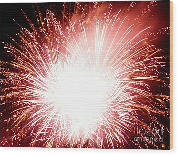 Wood Print featuring the digital art 2012 Fireworks by Angelia Hodges Clay