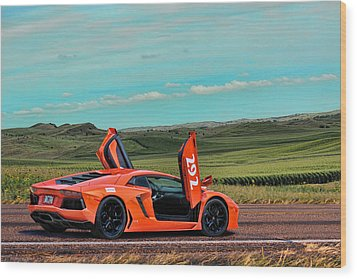 2012 Lamborghini Aventador Wood Print by Sylvia Thornton