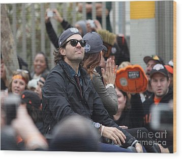 2012 San Francisco Giants World Series Champions Parade - Barry Zito - Img8206 Wood Print by Wingsdomain Art and Photography