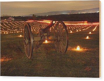 Wood Print featuring the photograph 2013 Antietam Cannon by Judi Quelland
