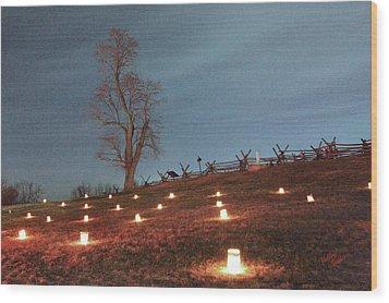 Wood Print featuring the photograph 2013 Antietam Near Bloody Lane by Judi Quelland
