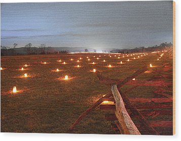 Wood Print featuring the photograph 2013 Antietam Near The Cornfield by Judi Quelland
