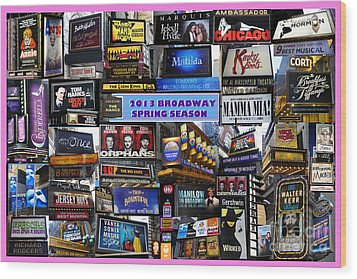 2013 Broadway Spring Collage Wood Print