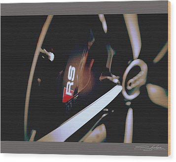 2014 Audi Rs7 Brake And Wheel Wood Print