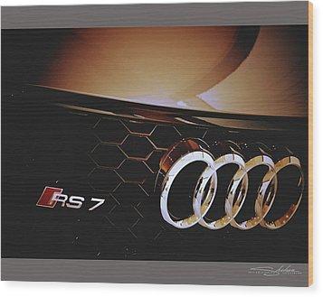 2014 Audi Rs7 Logo Wood Print