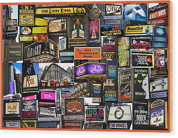 2014 Broadway Fall Season Collage Wood Print