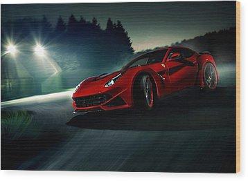 2014 Novitec Rosso Ferrari F12 Berlinetta N Largo Wood Print by Movie Poster Prints