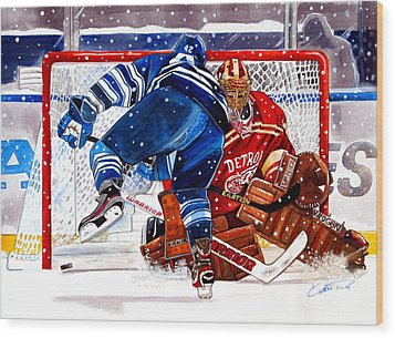 2014 Winter Classic Wood Print by Dave Olsen