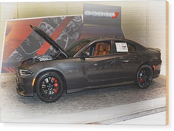 2015 Dodge Charger Srt Hellcat Wood Print