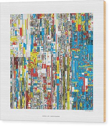 20244 Digits Of Pi Wood Print by Martin Krzywinski