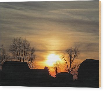 21 Dec 2012 Sunset Two Wood Print
