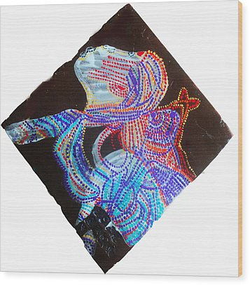 Dinka Lady - South Sudan Wood Print by Gloria Ssali