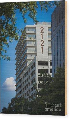 2121 Building Wood Print