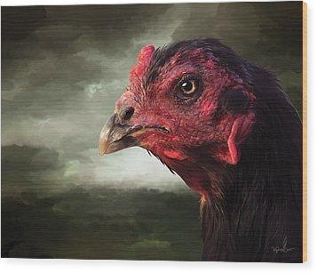 22. Game Hen Wood Print