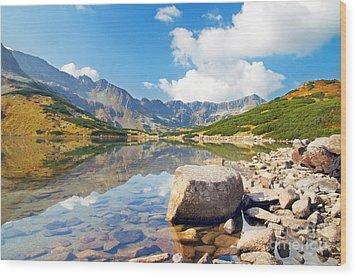 Mountains Landscape Wood Print by Michal Bednarek