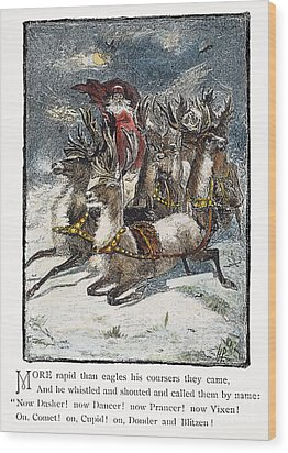 Night Before Christmas Wood Print by Granger