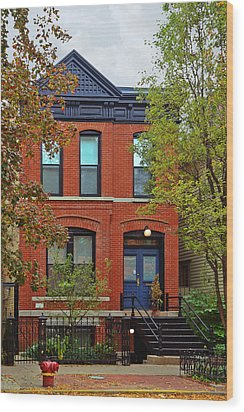 22 W Eugenie St Old Town Chicago Wood Print by Christine Till