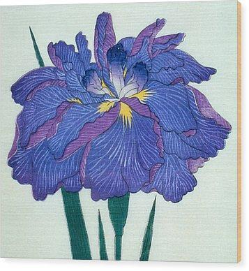 Japanese Flower  Wood Print by Japanese School