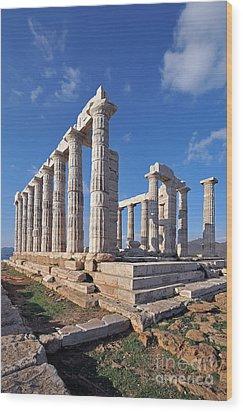 Poseidon Temple Wood Print by George Atsametakis