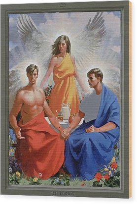 24. The Trinity / From The Passion Of Christ - A Gay Vision Wood Print by Douglas Blanchard
