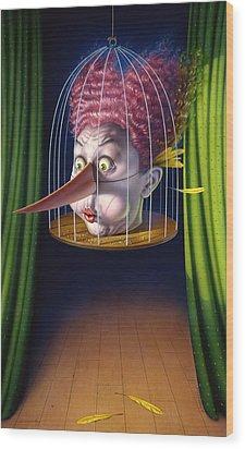 24th Annual Waxdeck's Bird Calling Contest Wood Print by Mark Fredrickson
