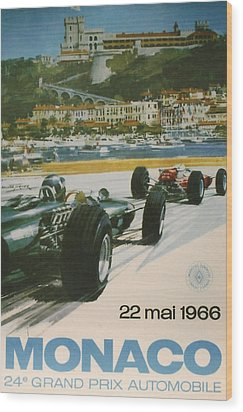 24th Monaco Grand Prix 1966 Wood Print by Georgia Fowler