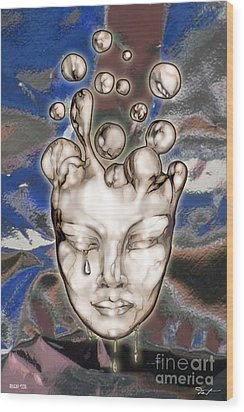 24x36 Misery 220 Wood Print by Dia T