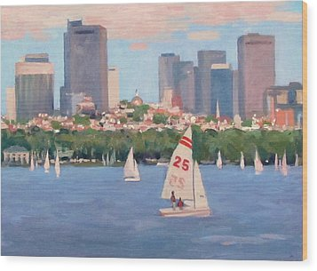 25 On The Charles Wood Print by Dianne Panarelli Miller