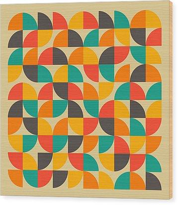 25 Percent #1 Wood Print by Jazzberry Blue