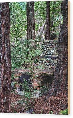 26 Wood Print