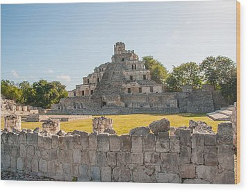 Edzna In Campeche Wood Print