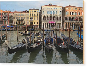 Venice Wood Print by Barbara Walsh