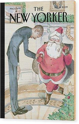 New Yorker December 14th, 2009 Wood Print