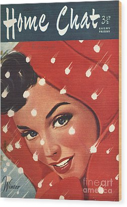 1950s Uk Home Chat Magazine Cover Wood Print by The Advertising Archives