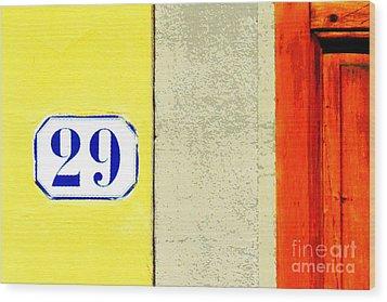 29 Comic Book Door Wood Print
