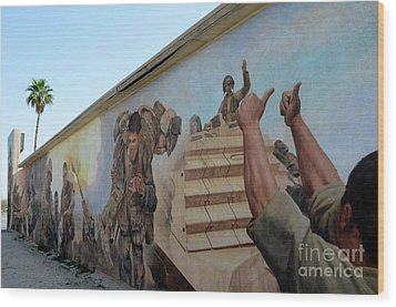 29 Palms Mural 4 Wood Print by Bob Christopher
