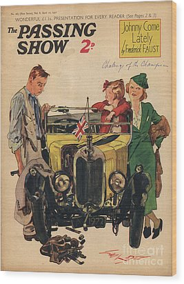 1930s,uk,passing Show,magazine Cover Wood Print by The Advertising Archives