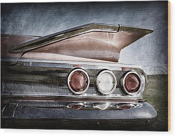 1960 Chevrolet Impala Resto Rod Taillight Wood Print by Jill Reger