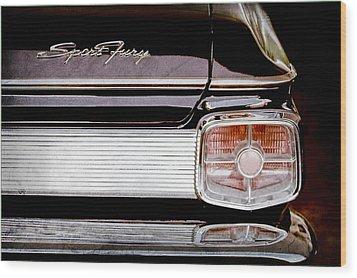 1963 Plymouth Sport Fury Taillight Emblem Wood Print by Jill Reger