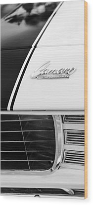 1969 Chevrolet Camaro Rs-ss Indy Pace Car Replica Hood Emblem Wood Print by Jill Reger