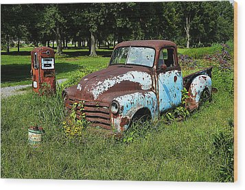 Wood Print featuring the photograph '48 Chevy by Paul Mashburn